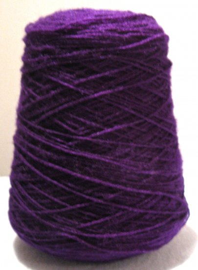 Purple 3 11 Acrylic Knitting Machine or Hand Crochet Cone Yarn Thread Fingering or Lace Weight