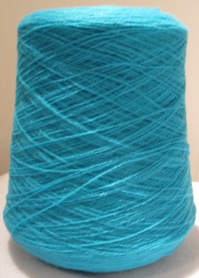 Turquoise Acrylic Knitting Machine or Hand Crochet Cone Yarn Thread Fingering or Lace Weight