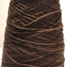Walnut Brown Acrylic Knitting Machine or Hand Crochet Cone Yarn Thread Fingering or Lace Weight
