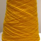 Gold Acrylic Knitting Machine or Hand Crochet Cone Yarn Thread Fingering or Lace Weight