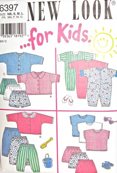 S6397 Sewing Pattern Child Size S M L Unisex Play Suit Jacket Top Shorts Pants with Variations