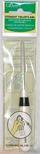 New Clover Straight Tailor's Awl for Crafting Quilting and Sewing Tasks