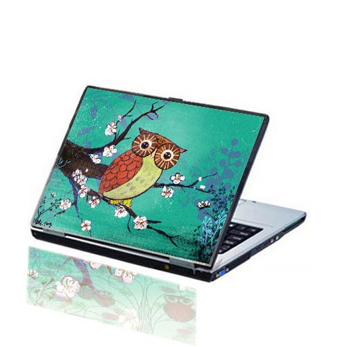Customizable Baby Owl Laptop Skin