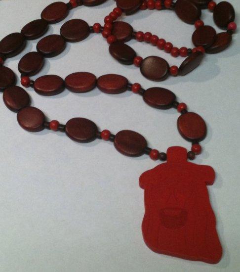 Jesus Wood Red