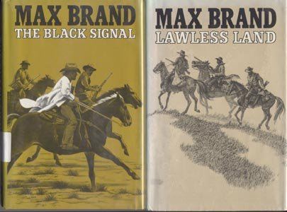 Lawless Land MAX BRAND Silver Star Western Book DJ