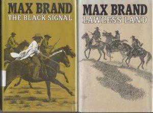 Lawless Land MAX BRAND Silver Star Western Book DJ