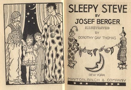 Sleepy Steve DOROTHY THOMAS Josef Berger CIRCUS KIDS 1931 HB