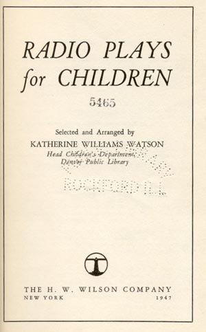 Radio Play for Children SCHOOL HOLIDAY Katherine Watson
