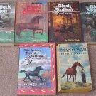 6 Vintage Book Set BLACK STALLION Walter Farley ISLAND Young GHOST Satan MAN O'WAR