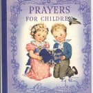 "Prayers for Children ANTIQUE Little Golden RACHEL Dixon TRUE 1st Edition 1942 BLUE SPINE ""A"" HB"