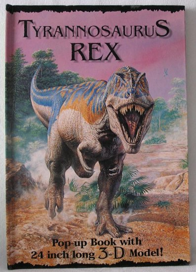 Tyrannosaurus T Rex Pop-Up 3D 3-D DINOSAUR David Hawcock~HB