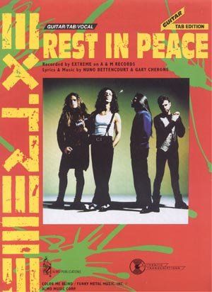 EXTREME Rest In Peace GUITAR TAB TABLATURE Vocal LYRICS Piano Sheet Music HEAVY METAL