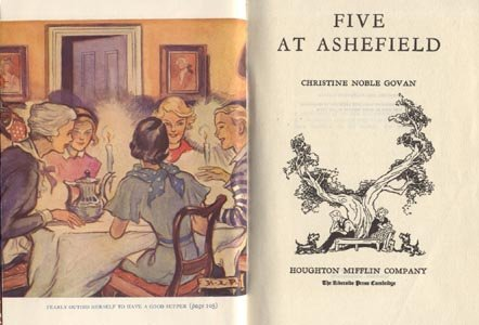 FIVE AT ASHEFIELD Christine Noble Govan KID MYSTERY Rare 1st EDITION 1935 HB