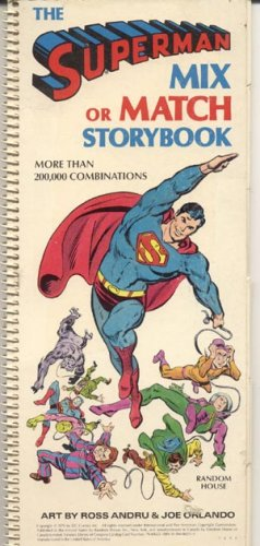 Superman Mix Or Match Storybook DC Comic 1979 Toyman Villain & MORE