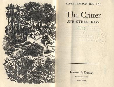 Critter and Other Dogs COLLIE The Dog STORIES Albert Payson Terhune HB