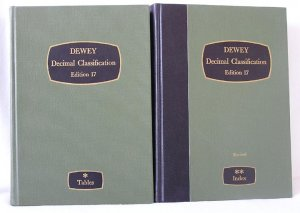 2 Dewey Decimal Classification Books EDITION 17 Library TABLES Revised Index MELVIN DEWEY HB