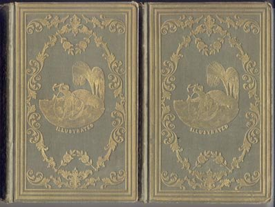 Poetical Works of James Montgomery POETRY Poems Books ANTIQUE Volumes 1-2 1850 GOLD VIGNETTE HB