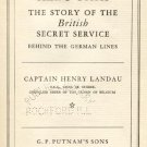 ALL'S FAIR British Secret Service WWI HISTORY Germany MILITARY OPERATION Capt Henry Landau 1934 HB