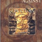Sepultura AGAINST Guitar TAB Songbook Tablature PIANO Vocal LYRICS Sheet Music