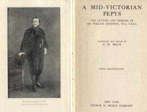 Mid Victorian Pepys Sir William Hardman Newspaper Man BARRISTER Journalist LONDON ENGLAND 1923 HB
