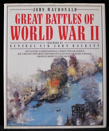 GREAT Battles of World War II WWII 3D 3-D Europe to Pacific COLOR MAPS John MacDonald 1st DJ