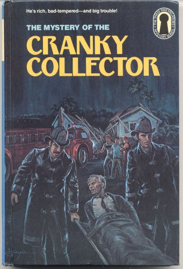3 THREE INVESTIGATORS #43 Mystery of the Cranky Collector M. V. CAREY Robert Arthur 1st EDITION HB