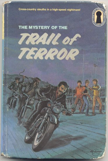 3 THREE INVESTIGATORS SERIES # 39 The Trail of Terror Mystery KEYHOLE EDITION M V Carey 1st HB