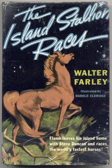 Island BLACK Stallion Races WILD Horse Racing FLAME Walter Farley 1955 HB DJ