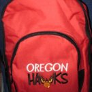 RED 3 ZIPPER OREGON HAWK BACKPACK