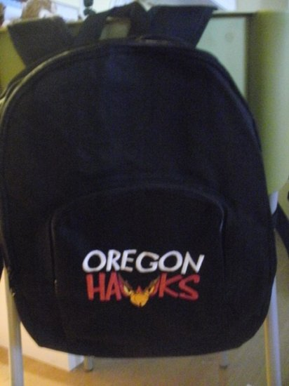 Black 3 Zipper Oregon Hawk Backpack