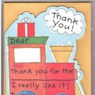 8 Train Thank You Cards