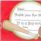 8 - Sports Kids Birthday Party Thank You Cards