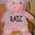14 Inch Embroidered Personalized Plush Pig
