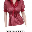 $6.25 PER PIECE; 6 tops in a PACKET; Polka Dot Burgandy Red Top- 2s,2m,2L