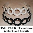 $1.00 PER PIECE; Black and White Gemstone headbands, 12 pieces