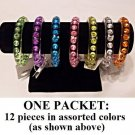 $1.00 PER PIECE; Assorted Rainbow Gemstone Bangles,12 assorted pieces