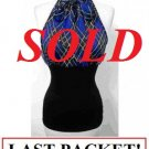 $6.25 PER PIECE; 5 tops in PACKET; Blue Plaid Halter Top  2s,1m,2L