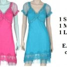 3 Pink and 3 Blue dresses, sizes 2 sml, 2 med, 2 lrg