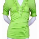 $6.25 PER PIECE; 5 tops in a PACKET; Lace Top (LIME GREEN)-  2s,1m,2XL