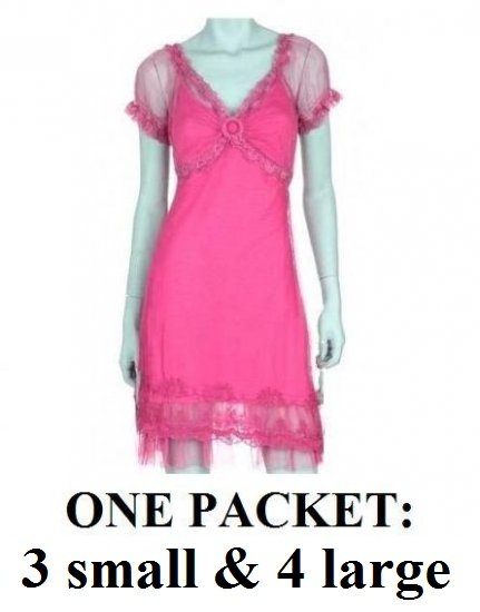 $7.00 PER PIECE; 5 dresses in a PACKET; Lace Dress (PINK color)-2s, 2 4L