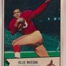 1954 Bowman Ollie Matson #12 Chicago Cardinals Football Card, cards