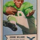 1954 Bowman Jerome Williams #104 Philadelphia Eagles Football Card, cards