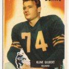 1955 Bowman Kline Gilbert Chicago Bears #49 Football Card, cards