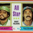 1974 Topps Jackson and Williams Right Fielders All Star Baseball Card, cards