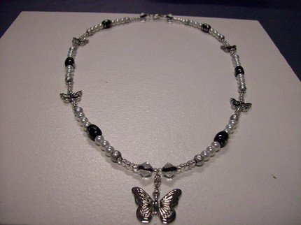 Butterfly Fashion Glass Necklace