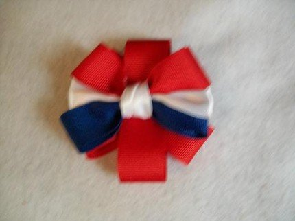 Patriotic Grosgrain Bow