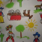 New 2 Yards Baby Nay Fabric Cowboy & Indian Boutique Boys Fabric