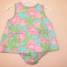 Lilly Pulitzer Baby Lilly Shift Dress Robins Egg B Under The Palms 3 - 6 Months