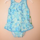 Lilly Pulitzer Ruth Printed Swimsuit Beach Club B Fly By 18 - 24 Months