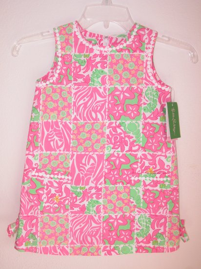 Lilly Pulitzer Little Lilly Shift Carry On Patch Toddler Girl Size 4 NEW